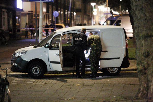 La camioneta matriculada en España(AFP PHOTO/ANP/Arie Kievit)