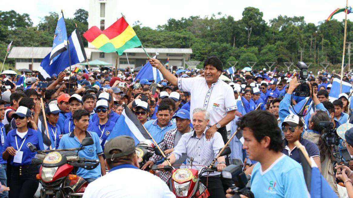 Evo Morales en campaña