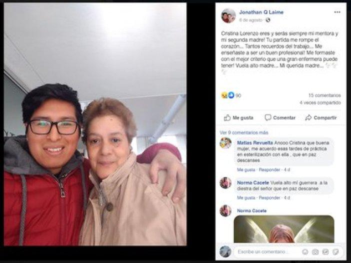 Los compañeros de Cristina Lorenzo la homenajearon en redes sociales.