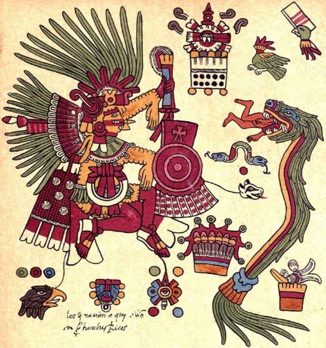 Representación en códice de Xipe Tótec. (Foto: INAH)