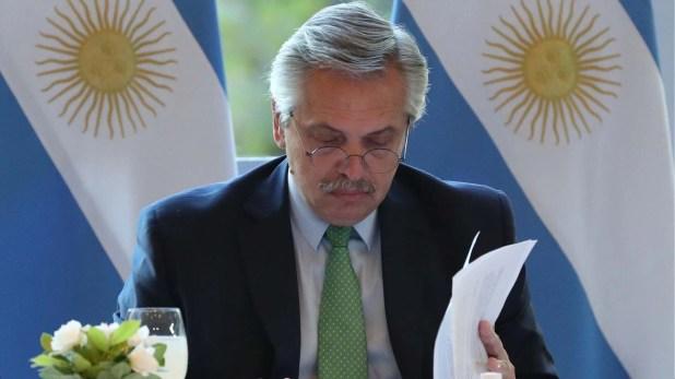 Alberto Fernández en la quinta de Olivos. (Presidencia)