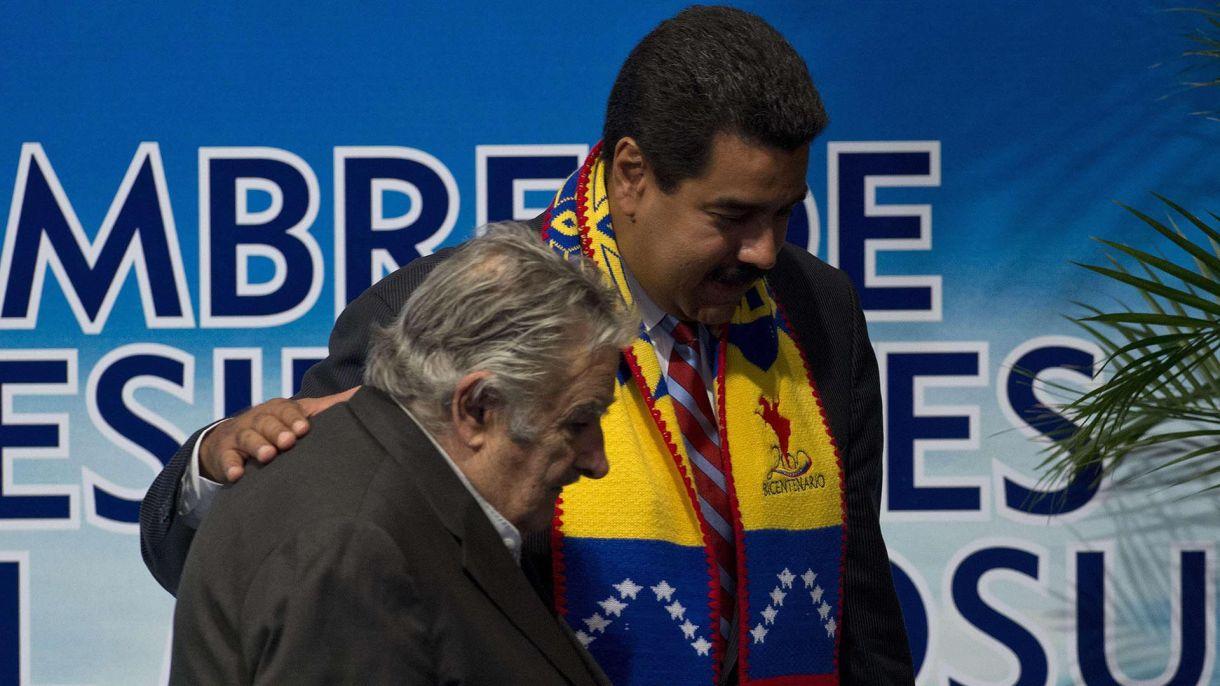 Nicolás Maduro y José Mujica (NA)
