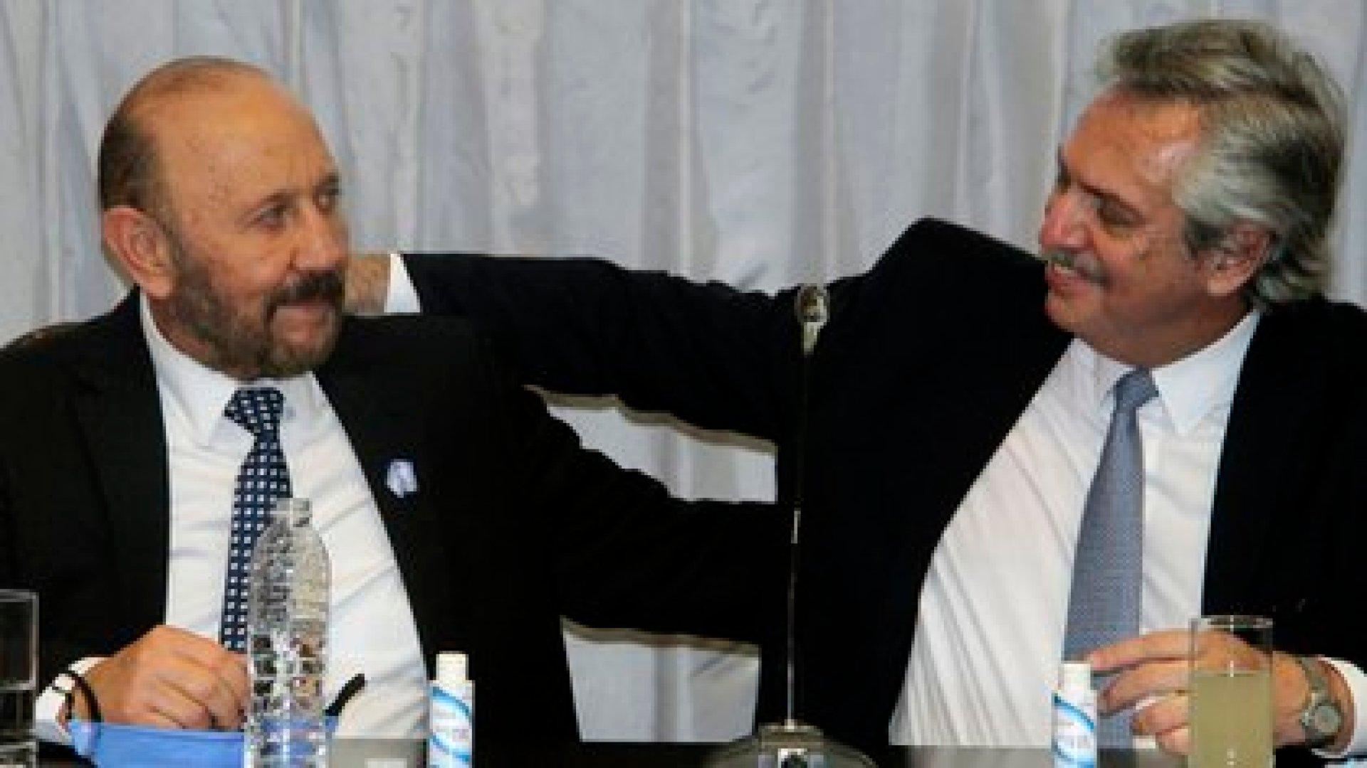 El presidente, Alberto Fernández, junto al gobernador formoseño, Gildo Insfrán (archivo/Télam)