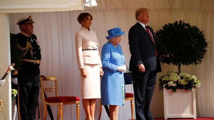 Isabel II los invitó a tomar el té (AP Photo/Pablo Martinez Monsivais)