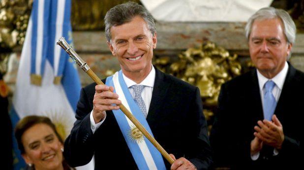 En 2015, Federico Pinedo le entregó el bastón a Mauricio Macri