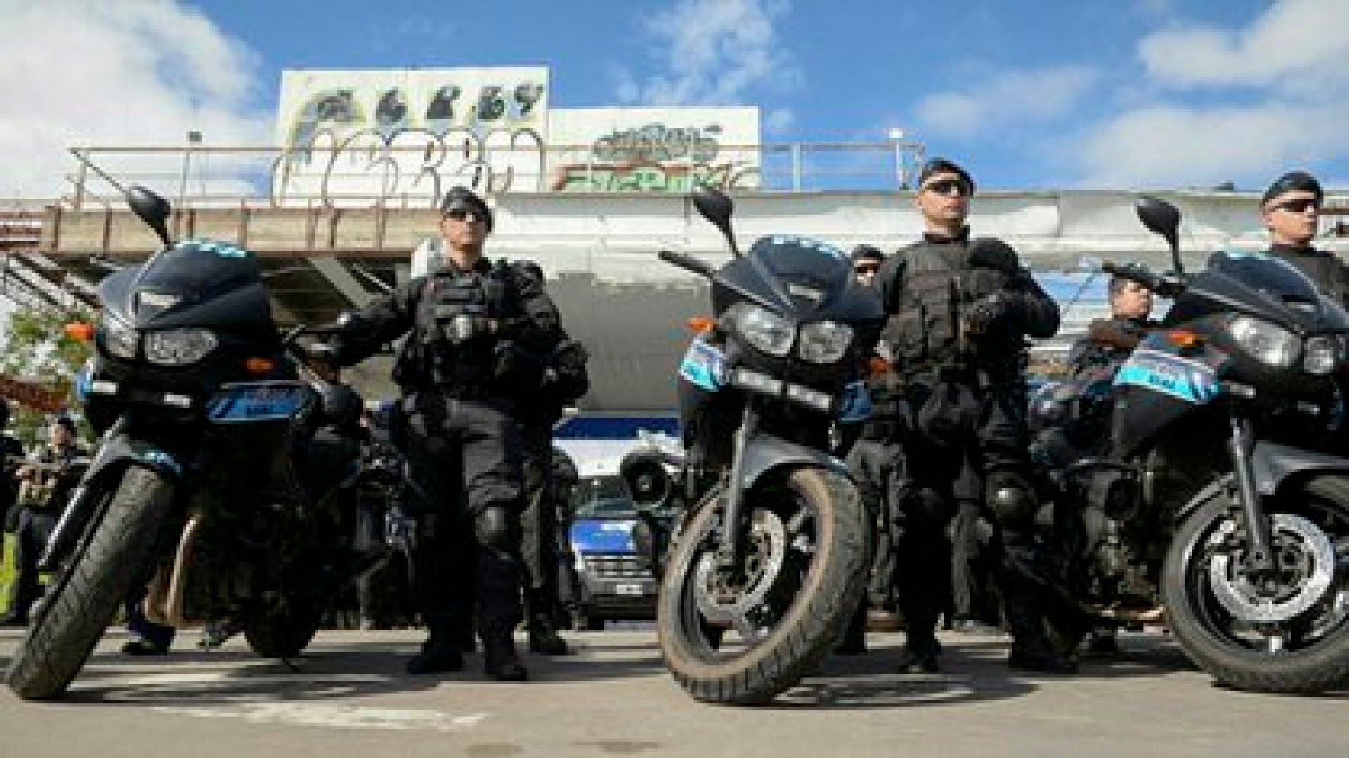 Efectivos de la Policía Federal durante un operativo