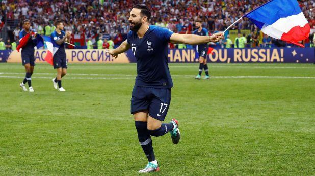 Adil Rami fue campeón con Francia en 2018 (Reuters)
