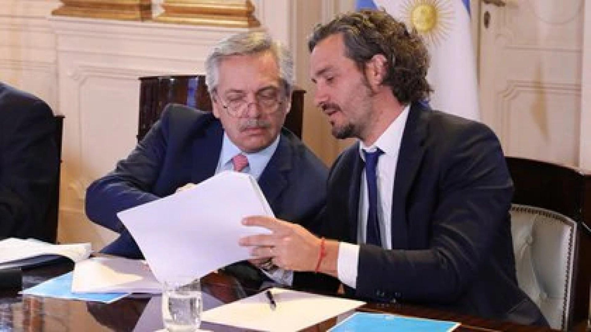 Este jueves Alberto Fernández definirá los detalles del decreto junto a su jefe de Gabinete, Santiago Cafiero