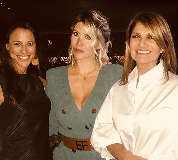 Wanda Nara, Barbara Rohner y Teresa Calandra (Instagram)