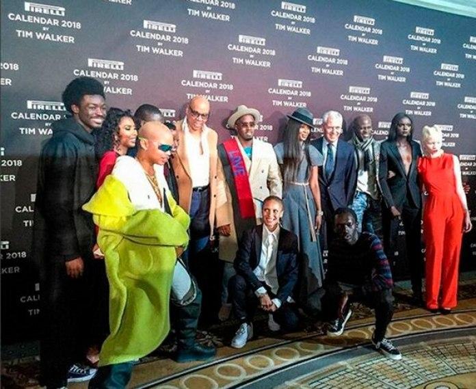 Parte del elenco, artistas y realizadores que participaron del calendario Pirelli 2018, una toma exclusiva que tomó la cámara del periodista Roberto Funes Ugarte.