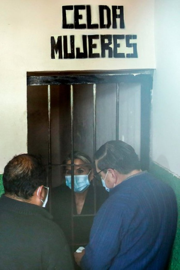 Former President Jeanine Añez, detained in a prison in La Paz, Bolivia, on March 13, 2021 (AFP)