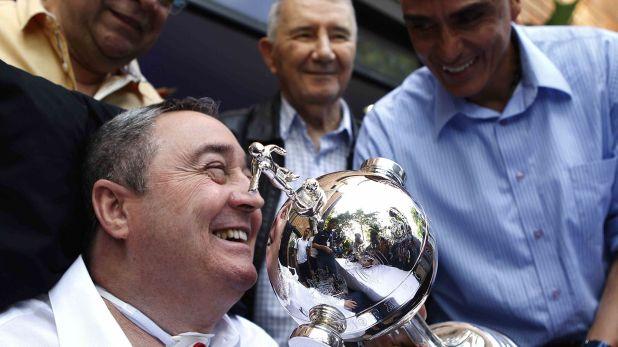 Montoya, en un homenaje por la obtención de la Copa (EFE)