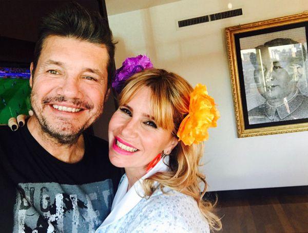 Marcelo Tinelli y Florencia Peña
