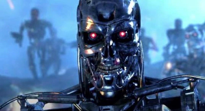 """Los robots querían exterminar a todos los humanos para dominar el mundo después de una supuesta bomba atómica en guerras entre ejércitos humanos Foto: (Captura de pantalla película """"Terminator"""")"""