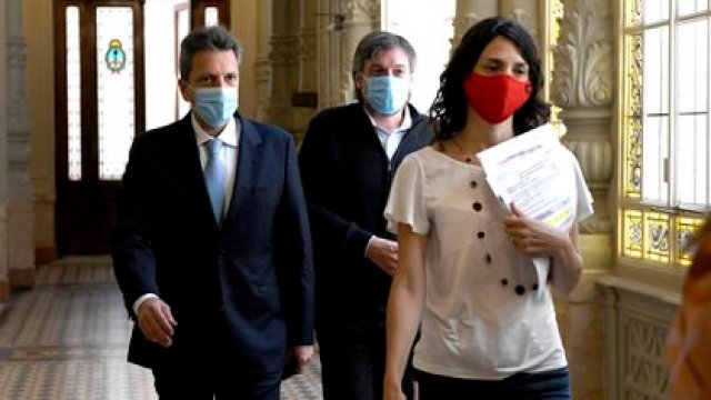 Sergio Massa y Máximo Kirchner (prensa Diputados)