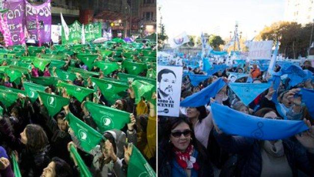 Este jueves habrá movilizaciones a favor y en contra de la legalización del aborto