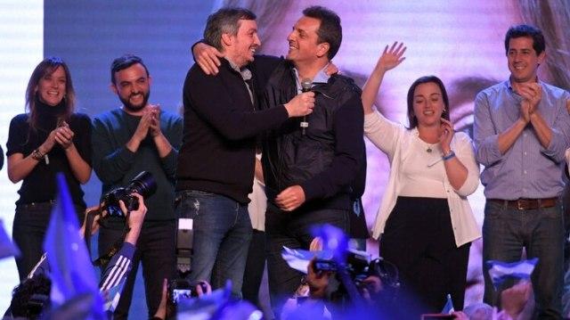 Sergio Massa y Máximo Kirchner, dos que estarán en el recinto (Télam)