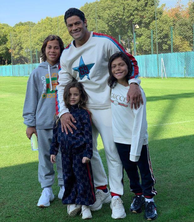 Hulk tiene tres hijos con su ex mujer