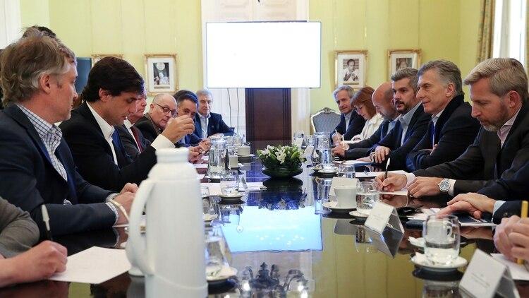 Mauricio Macri encabeza la reunión de gabinete del lunes pasado (Prensa Presidencia)