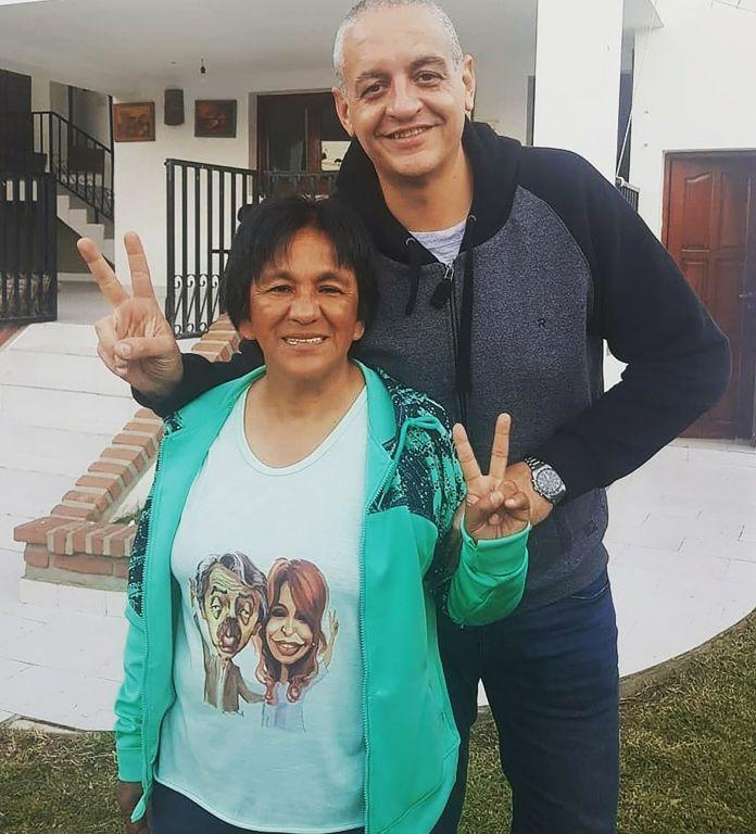 Horacio Pietragalla con Milagro Sala