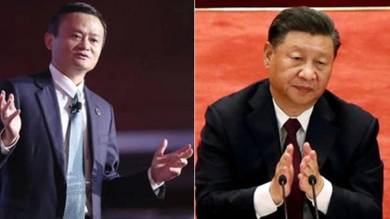 Jack Ma, fundador de Alibaba y Xi Jinping, jefe del régimen chino. Beijing persigue al empresario multimillonario de quien no se conoce su paradero desde hace dos meses (Shutterstock-Reuters)