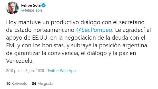 Felipe Sola - deuda - FMI - bonistas