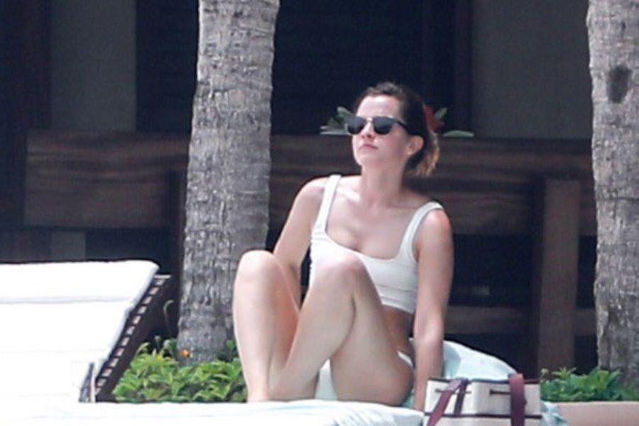 Emma Watson disfruta de sus vacaciones en México (Foto: Twitter/EmWatsonMex)