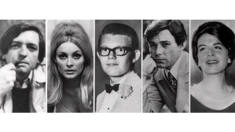 """Las victimas de la """"Familia de Manson"""" que se encoteban en la casa del director Roman Polanski: Voytek Frykowski; Sharon Tate; Stephen Parent, 18, que había ido a visitar a un amigo y fue encontrado muerto en su auto; la peluquera de la familia Jay Sebring, 35; y Abigail Folger (AP)"""