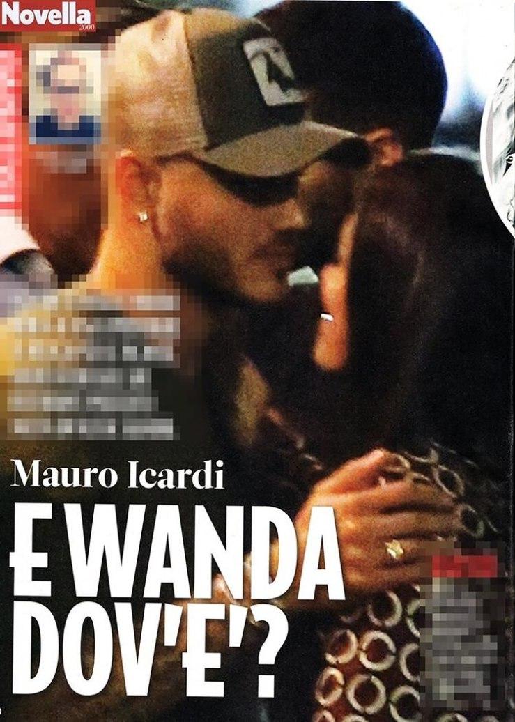 La foto de Mauro Icardi y una misteriosa mujer, que se publicó en una revista italiana (Novella 2000)