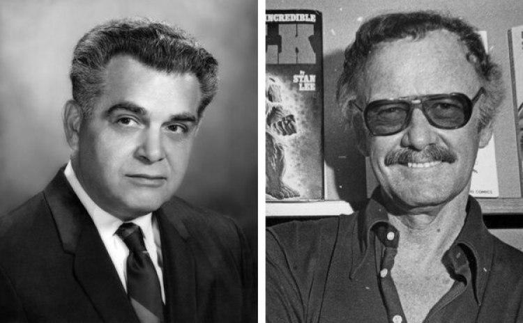 De izquierda a derecha, Jack Kirby y Stan Lee | Imágenes vía Wikipedia Commons