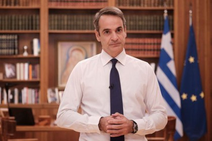 El primer ministro griego Kyriakos Mitsotakis (Dimitris Papamitsos/Greek Prime Minister's Office via REUTERS)