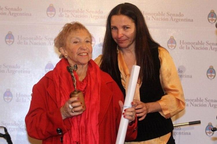 Y en 2013, al ser distinguida con un Premio Podestá (Fotos: Verónica Guerman / Teleshow)