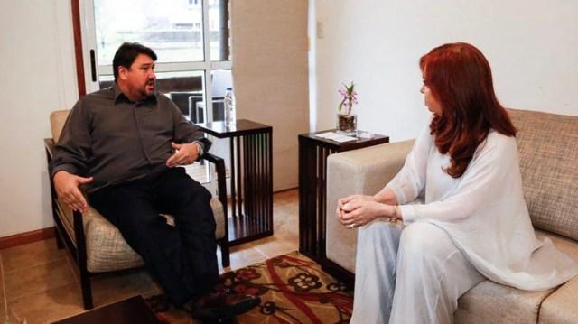 Antes del acto Cristina Kirchner se reunió con el senador y ex mandatario de Misiones Maurice Closs