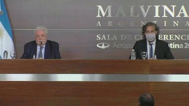 Ginés González García y Santiago Cafiero