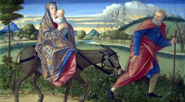 """""""José se levantó, tomó al niño y a su madre, y se retiró a Egipto; y estuvo allí hasta la muerte de Herodes"""" (Evangelio según San Mateo)"""