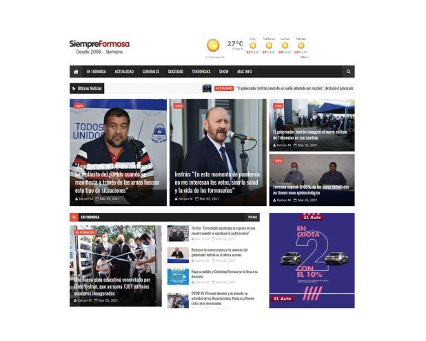 Medios de Formosa sobre la represion