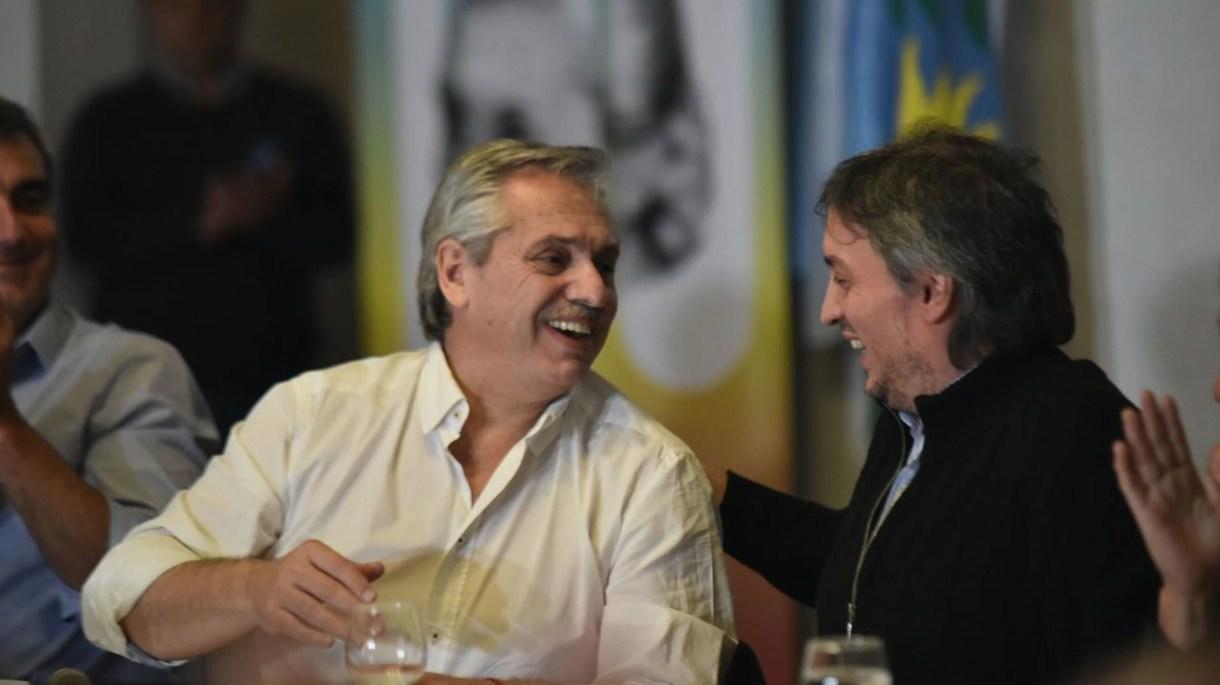 Alberto Fernández y Máximo Kirchner en Areco