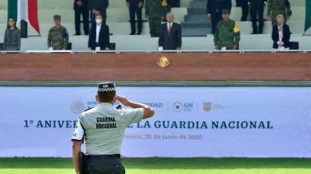 Actualmente se cuenta con aproximadamente 76,000 elementos de la Guardia Nacional, pero el objetivo es reclutar 140,000 (Foto: Presidencia de México)