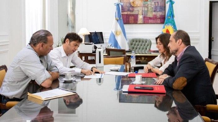 Kicillof encabezó un encuentro en La Plata para tratar de cerrar la disputa entre Sabina Frederic y Sergio Berni.