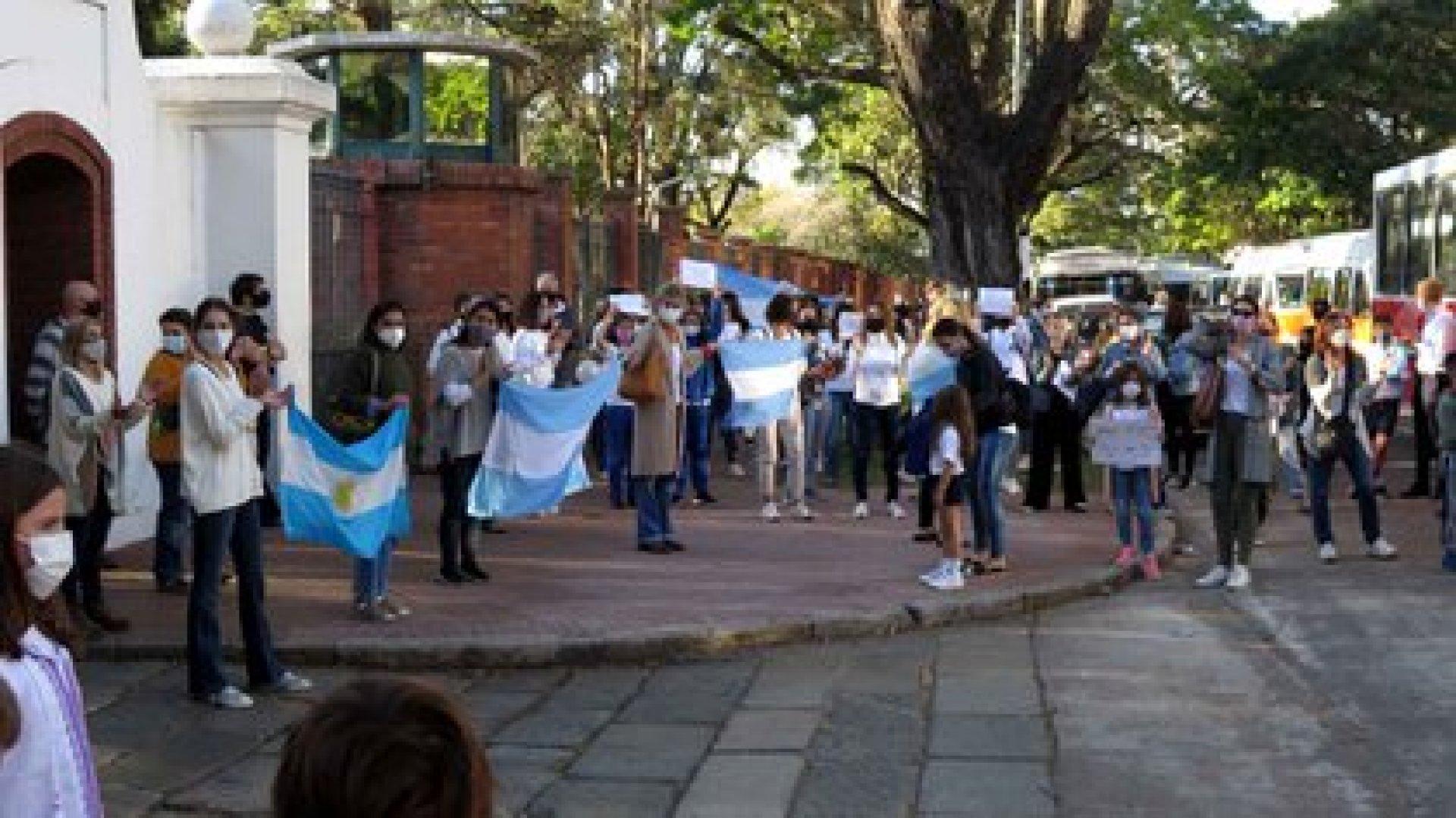 Protesta frente a la residencia de Olivos (Gustavo Gavotti)