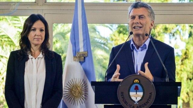 Carolina Stanley y Mauricio Macri (NA)