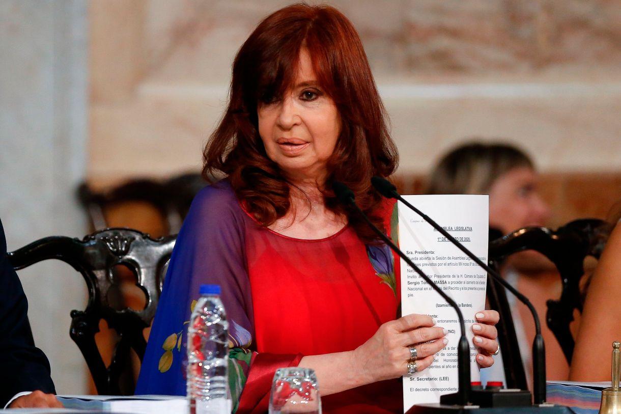 Foto de archivo de la vicepresidenta argentina, Cristina Fernández. EFE/Juan Ignacio Roncoroni/Archivo