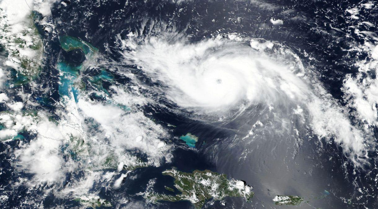 Imagen satelital del huracán Dorian. (NASA)