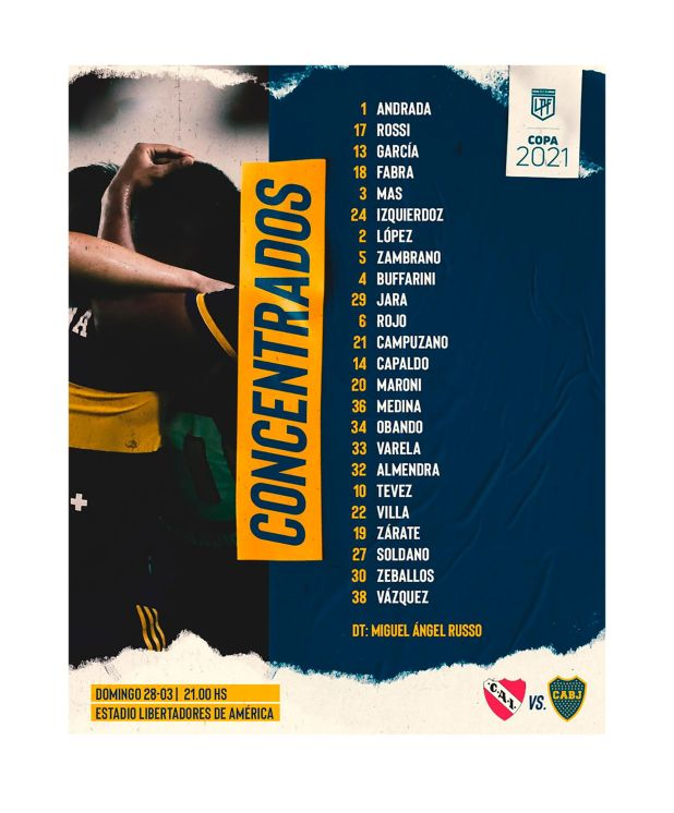 lista-de-concentrados-de-Boca-vs-Independiente