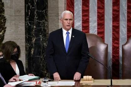 El vicepresidente de los Estados Unidos, Mike Pence. Foto: J. Scott Applewhite/via REUTERS