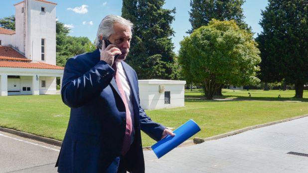 Alberto Fernández pasó su primer día de cuarentena en la quinta de Olivos. Presidencia