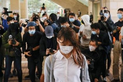 Agnes Chow también se declaró culpable. Será la primera vez que enfrenta la cárcel en sus 23 años de vida (Reuters)