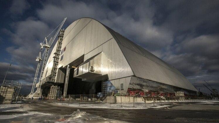 El nuevo sarcófago seguro de la central nuclear de Chernobyl (AFP)