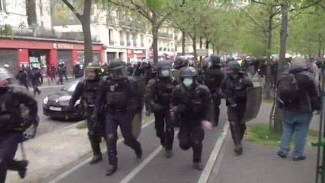 Imágenes de las corridas en París