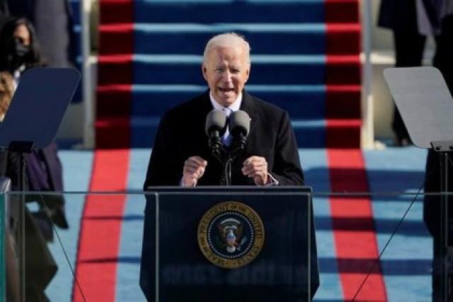 Joe Biden durante su discurso inaugural. Foto: Patrick Semansky/via REUTERS